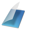 blue, folder, documents icon