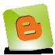 Blogger, Green, Hover icon