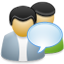 Chat, Users icon