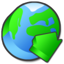 internet,download,descending icon