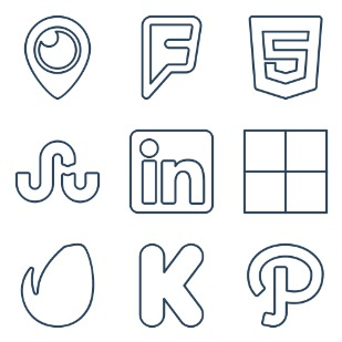Brand icon sets preview