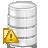 warning, database icon