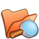 folder,orange,explorer icon