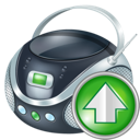 up, boombox icon