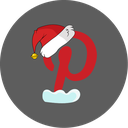 christmas, pinterest, social, snow icon