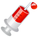 injection, blood icon