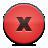 Button, Close, Red icon