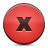 red aplhabet, red, button icon