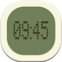 Clock, Digital, Flat, Round icon
