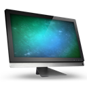 2., Computer, Green, Space icon