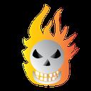 scary, halloween, burning, bone icon