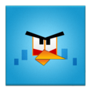 blue,angrybird,frameless icon