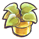 Flowerpot, g, Plant icon