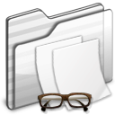 Documents Folder white icon