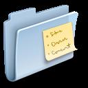 note, badged, folder icon