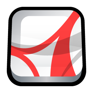 adobe, acrobat, reader, pdf icon