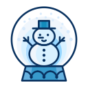snowglobe, decorate, man, snow, snowman, decoration icon