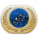 starfleet, pin, attach icon