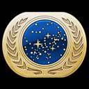 starfleet, pin, attach icon