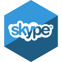 social, media, hexagon, skype, gloss icon