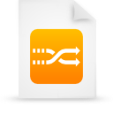 file, orange, paper, document icon
