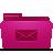 folder, mail, pink icon