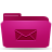 mail, letter, pink, envelop, email, folder, message icon