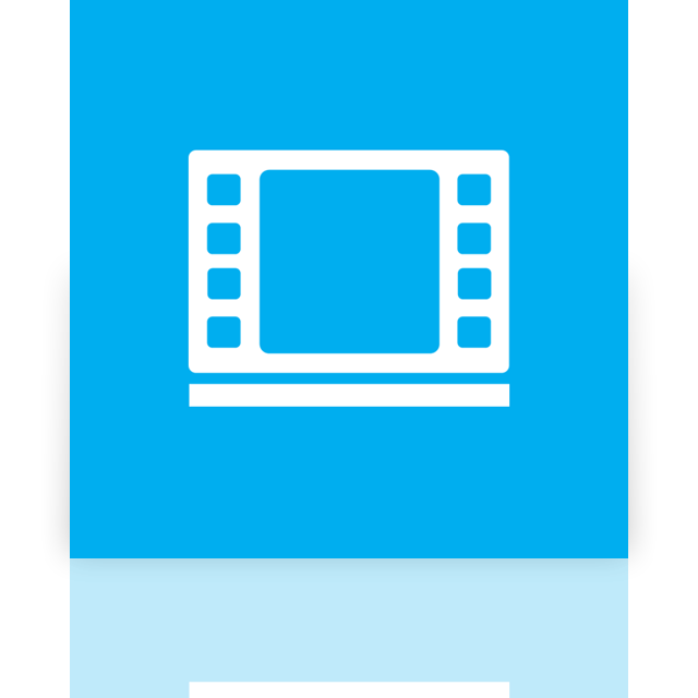 video, mirror, library icon