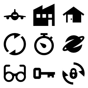 Blocked-Out 2 icon sets preview