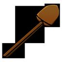 wooden, shovel icon