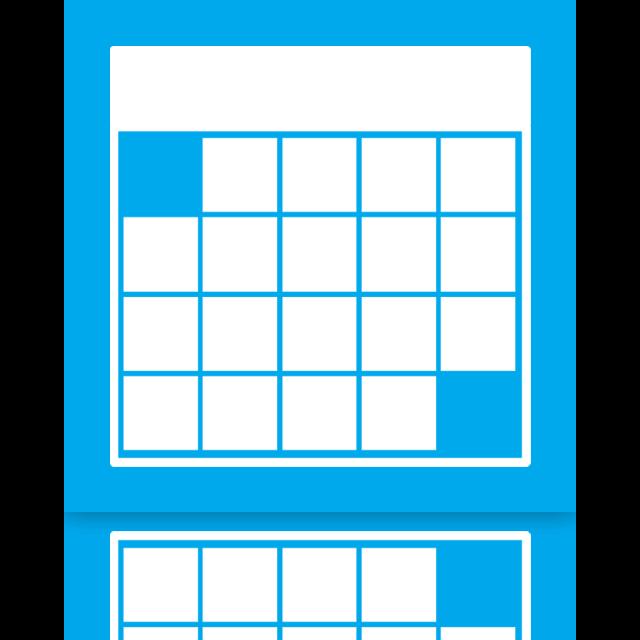 calendar, mirror icon