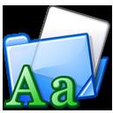 font, folder icon