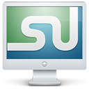 social, computer, screen, display, monitor, stumbleupon icon
