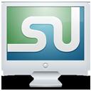 social, computer, screen, display, monitor, stumbleupon icon