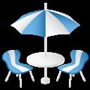 Furniture, Summer icon