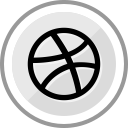 media, corporate, social, dribbble, logo icon