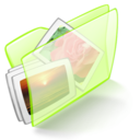 dossier,green,picture icon