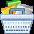 ecommerce, shopping, full, basket icon