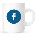 coffee, facebook, mug icon