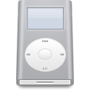 ipod, silver, mini icon