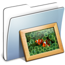 Folder, Graphite, Pictures, Smooth icon