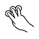 three, gestureworks, finger, tap icon