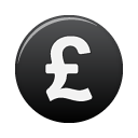 Black, Currency, Pound icon