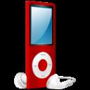 iPod Nano red on icon