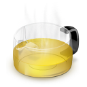 Glass Teapot Yellow icon