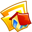home, folder, house, building, homepage icon