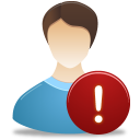male, warning, user icon