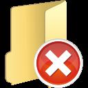 folder remove icon