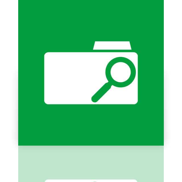 folder, mirror, search icon