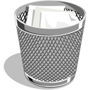 recycle bin, trash, full icon